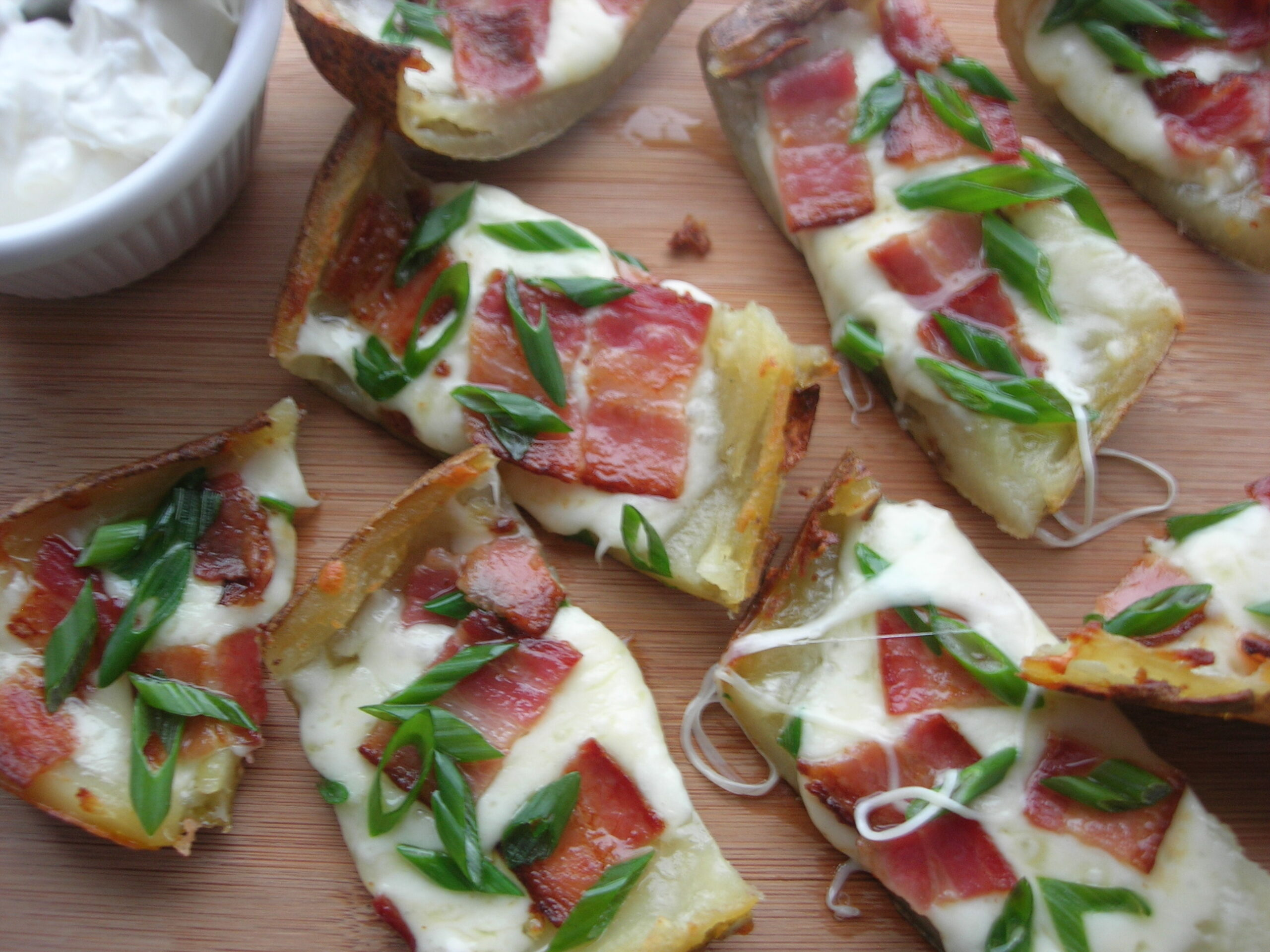 Blue Cheese Chive Potato Skins